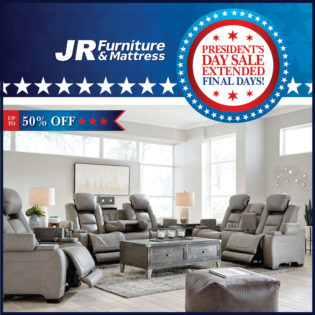 """JR Furniture على تويتر: """"Surprise! Our Presidents Day Sale has"""