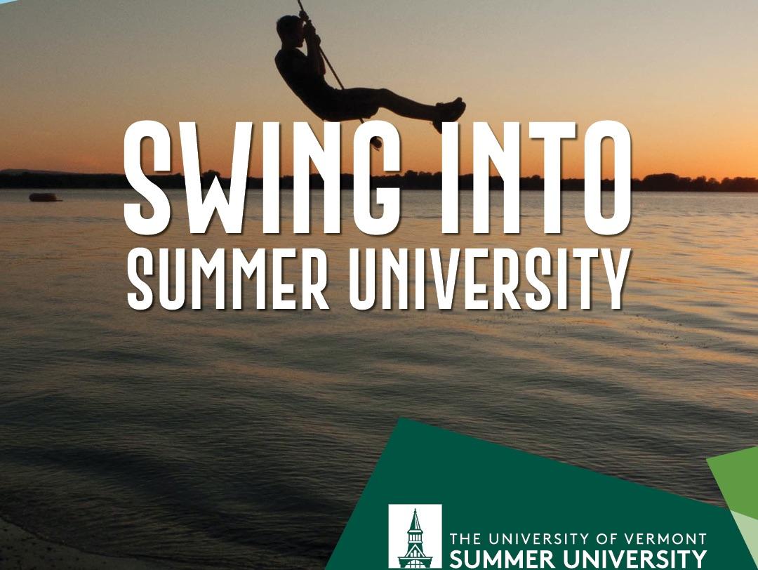 Are you ready?  Let's swing into Summer U.  Registration opens tomorrow!  #VermontLife #UVMSummerU #Summer2020 #Summer