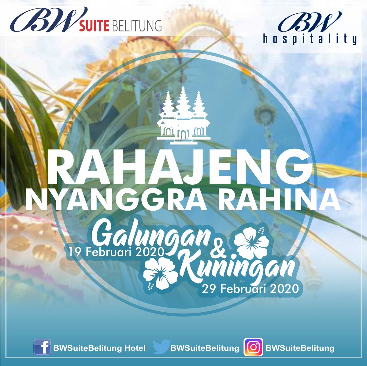 Rahajeng Nyanggra Rahina Galungan lan Kuningan umat sedharma #galungan #kuningan #seasongreetings #hindu #bhinekatunggalika #indonesia #balinese #bali #belitung #umatsedharma #culture #balineseculture #live #hidup #positivevibes #livegoals #happy #happiness #instalike #lovepic.twitter.com/3JnhpmSbNj