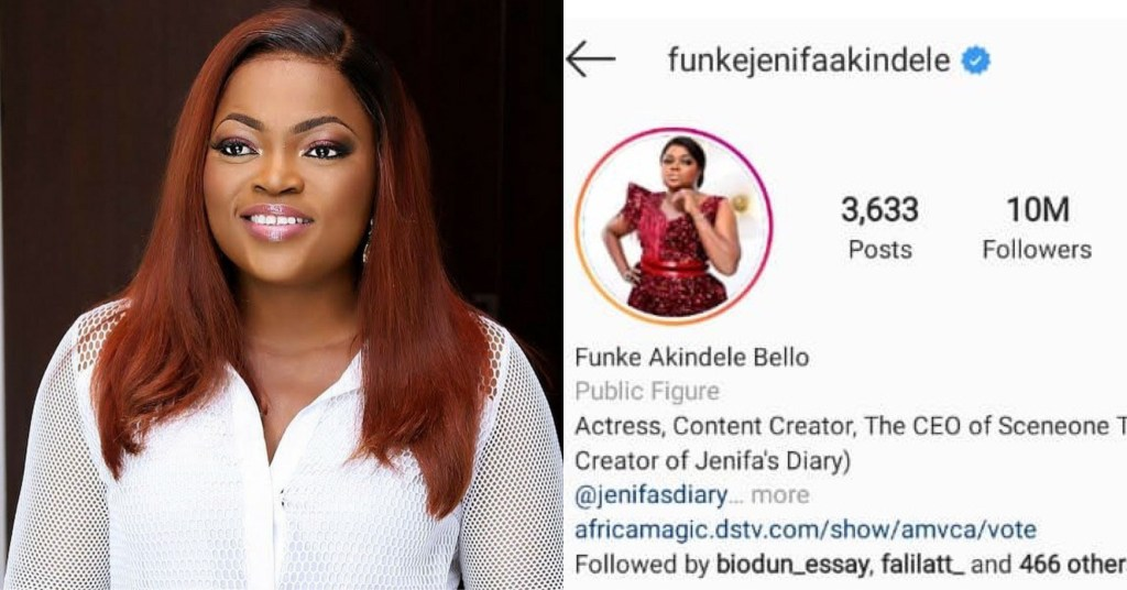 Funke Akindele Becomes First Nollywood Act To Have 10m Instagram Followers | RDNews ..... Nollywood actress Funke Akindele has become the first Nigerian act to reach the 10 million followers milestone on Instagram. #Instagram…