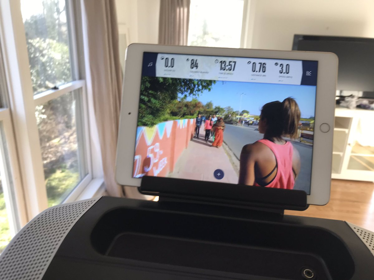 Exactly, and the NordicTrak costs a fraction of a Peloton. Bonus: cool international sights while running/jogging/hiking with their trainers.pic.twitter.com/Aq20vUSGJI