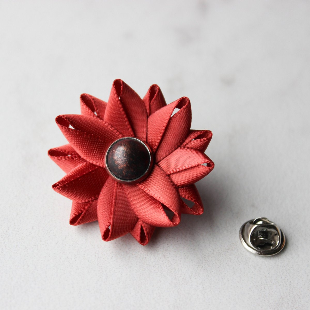Unique Gift for Him, Gift for Men, Gift for Boyfriend, Rust Colored Lapel Flower Pin, Mens Boutonniere, Gift for Father, Gift for Dad  #etsyshop #etsy #shopsmall #sale #shop #shopping #store