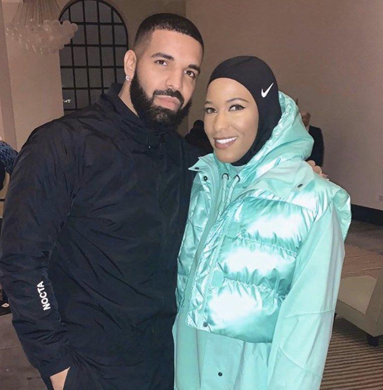 6 God aka #Drake at a Nike event! ✔️