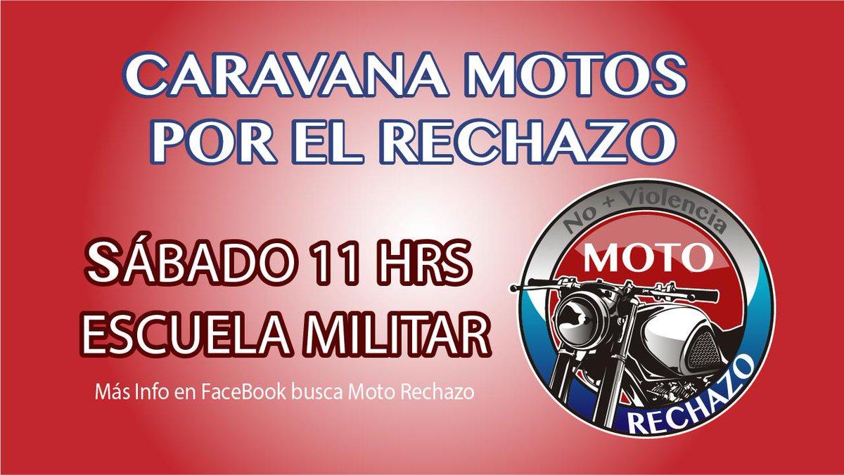 ATENCIÓN MOTOQUEROS DE , que Aman Chile en Paz !!! #YoRechazo pic.twitter.com/zAfDwBhlM3