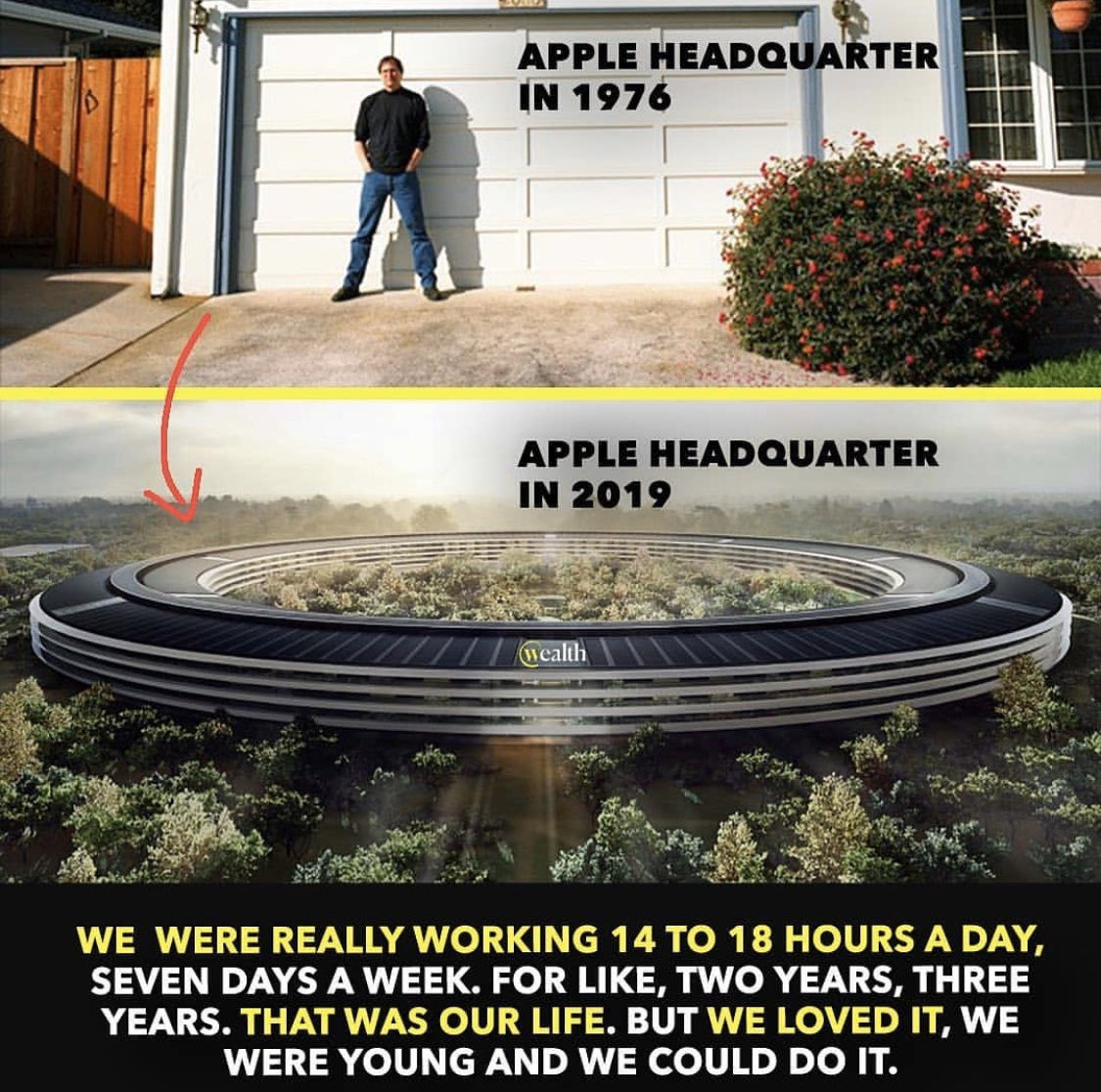 Apple from 1976 to NOW  #Business #Billionaire #Empire #Passion #Grateful #Hustle #Patience #Goals #Dreams #Conviction #Determination #Ideas #Apple #Determination #Consistency #Risk #Implement #Global #HardWork #Mission #Headquarters #Life #Wise #Will #Opportunist #Work #iPhone