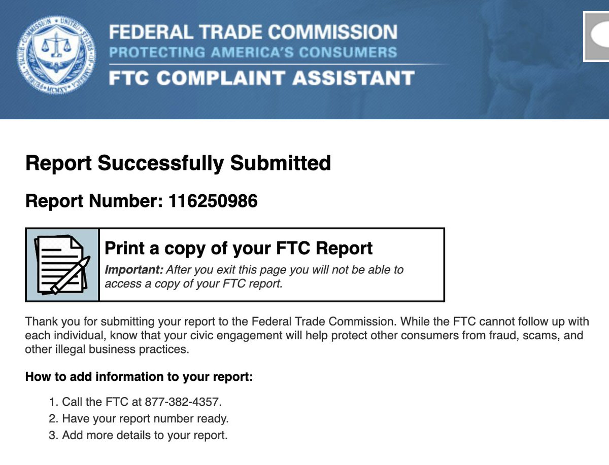 @andrewkaitam alright guys i did it and you can too ftccomplaintassistant.gov/GettingStarted…