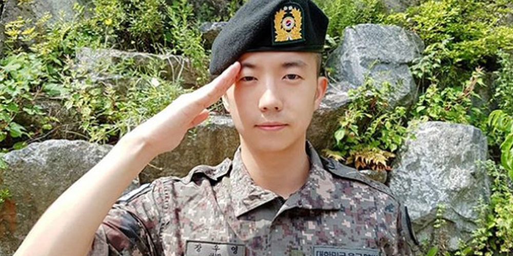 2PM's Wooyoung will be discharged from his mandatory service at the end of this month https://t.co/Rd4iAPydyF https://t.co/g6VRLQmqxm