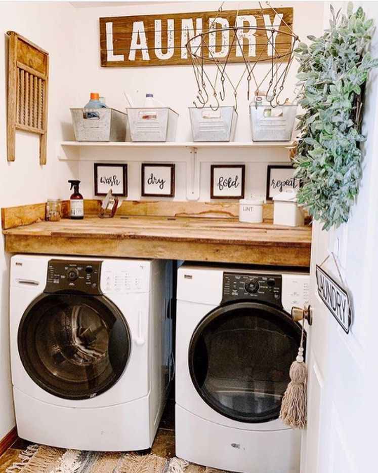 Laundry's not such a chore when this is the laundry room view! Because this space deserve some decor love too, right? Gorgeous! https://buff.ly/2wn4cnf #homedecor #walldecorpic.twitter.com/grPeBD4v8u