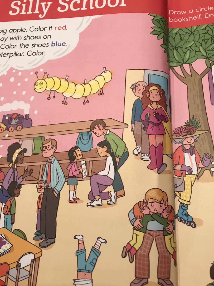 I bought my two youngest kids Highlights preschool workbooks.  The instructions were to find & color different things in the picture. We also found a family that looks like ours! #multiracial #exceptIdontwearpants #dressesonlypleasepic.twitter.com/hL3ibtOce3