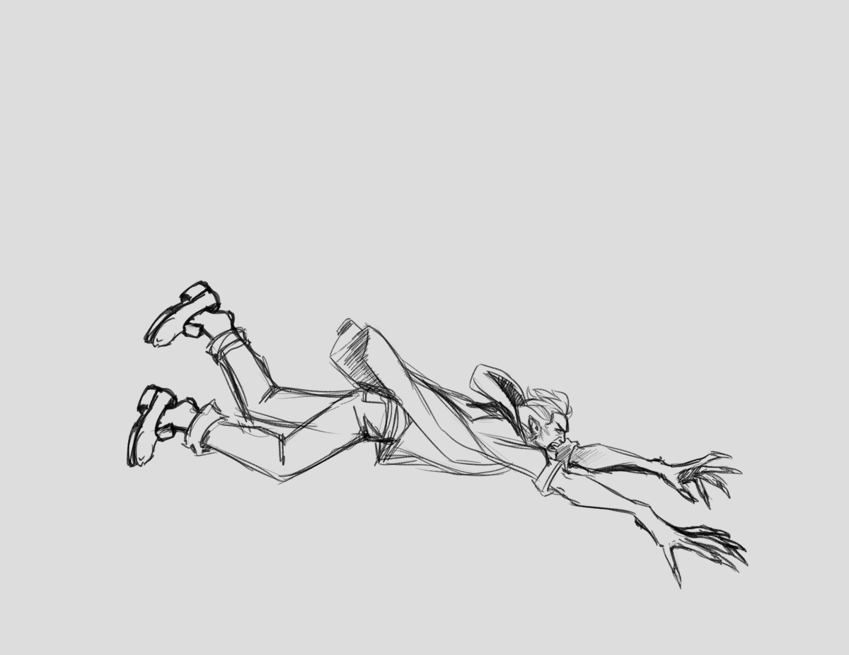 I think I need to stretch the legs out more to match the elongated arms/hands but I am liking this so far  #MyArt #WIP #CriticalRole #Monsterhearts #Cinderbrush #AffFlowers