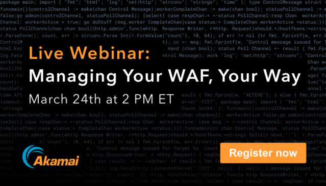 Join this webinar to learn about @Akamai's Flagship Security Solution - Kona Site Defender (KSD), and how it protects the #apps & #APIs of the Internet at the Edge, with dramatically lower management overhead. Register here: http://bit.ly/2vHVpfApic.twitter.com/q4xNATzqER