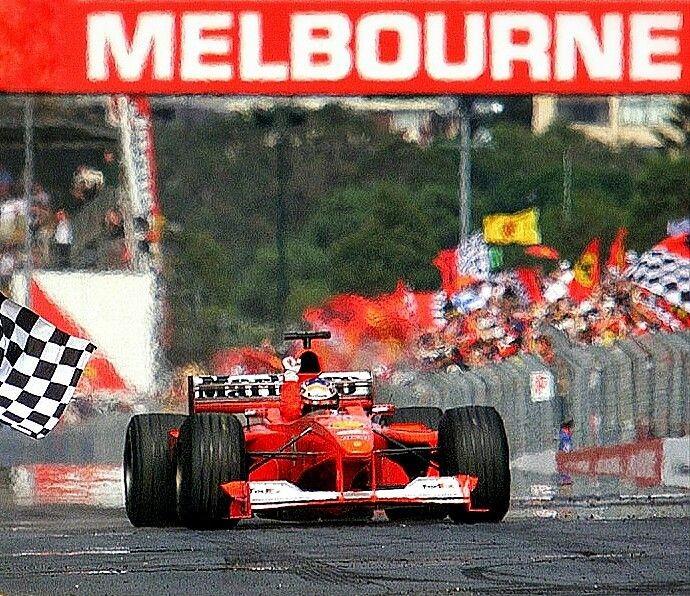 Yirmi Birinci yüzyılın ilk Formula 1 yarışını kazanan isim Michael #Schumacher.  2000 #AvustralyaGP