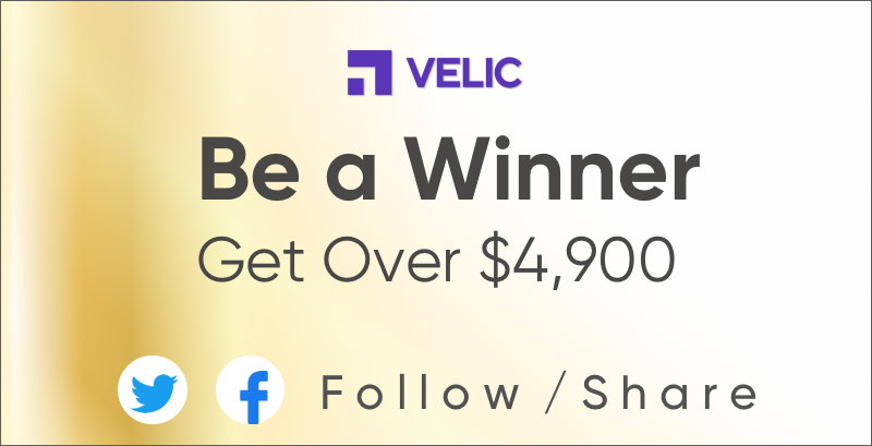 [Event]  Get a chance to win over $4,900!! - Follow/Like VELIC's Twitter & Facebook. - Retweet or share at least 2 VELIC new content. - Fill out the form http://bit.ly/Honeypot_Qeu  #Event #BTC #ETH #ICX #QTUM #ATOM #COSMOS #VELIC  #Follow #Share #Retweet #Likepic.twitter.com/MWdIwLFJ0g