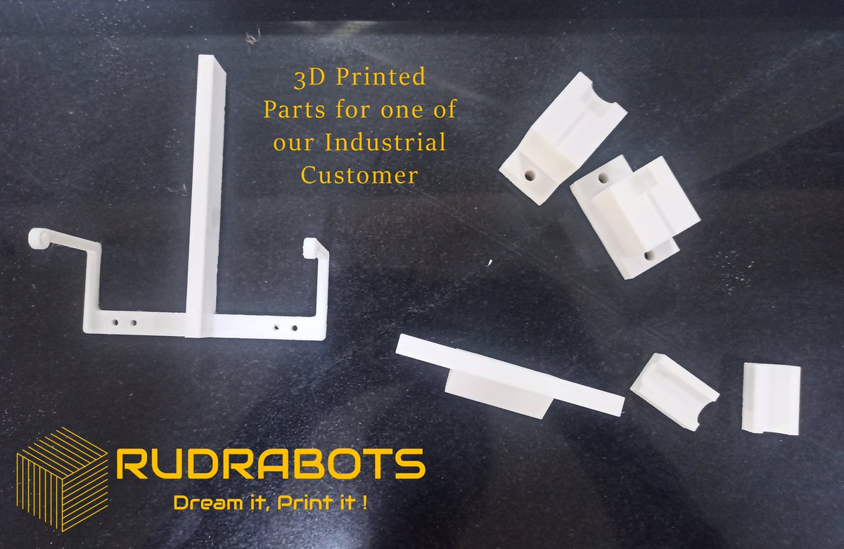 #3DPrintedParts for one of our #Industrial #Customers  #Manufacturing #AdditiveManufacturing #Conventional #ConventionalManufacturing   #Rudrabots  #VIKAS   #3DPrinting #STEM #FDM #RapidPrototyping   #SSIP #Startup #StartupIndia #Innovation #Entrepreneur #Entrepreneurship