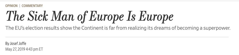 """other countries who have been called """"sick man of"""" by the WSJ: France, Italy, Britain, Germany"""