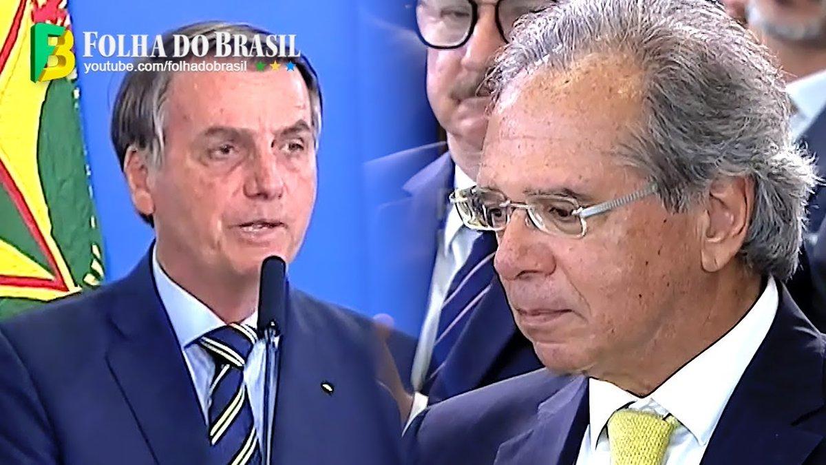 Bolsonaro homenageia Paulo Guedes e faz discurso marcante na posse de Onyx e Braga Nettopic.twitter.com/EtbUQtOKop