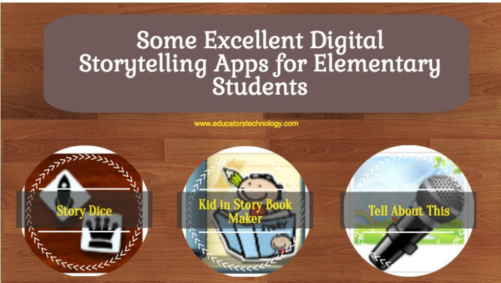 IDEA:  Digital Storytelling Apps for Elementary Students.  #edtech #edchat #elemchat #3rdchat #4thchat #5thchat #middlechat #mschat #6thchat #7thchat #langarts #ela #engchat #reading #literature #Apps #iPad