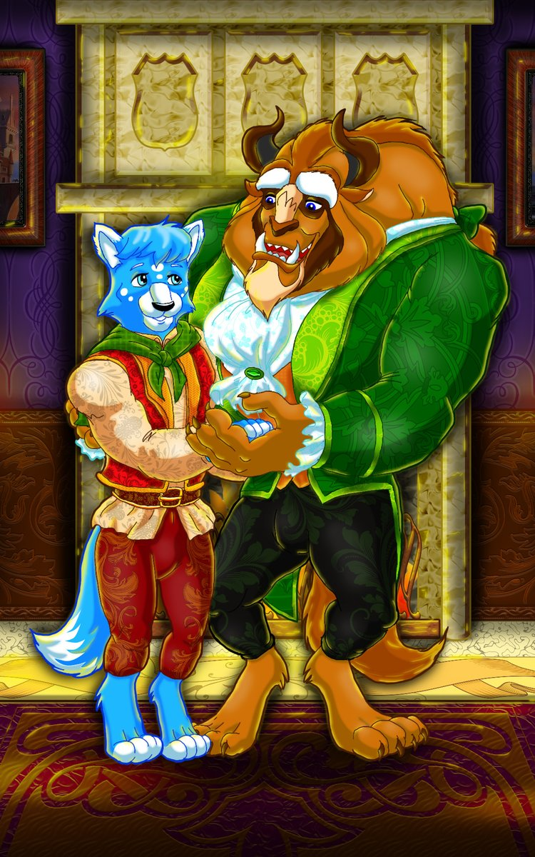 Family Photo  Commission for @TheHuskyGamer   #Beast #Disney #BeautyAndTheBeast pic.twitter.com/KcNi65oEA1