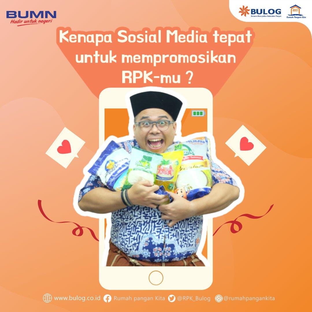 Sosial Media saat ini dijadikan sebagai salah satu peluang untuk membuka dan mengembangkan bisnis. Nah Sahabat RPK! Kamu bisa loh memasarkan RPK-Mu di sosial media, hal ini dapat membuka peluang menjangkau konsumen-konsumen baru #bulog #rpk_bulog #sahabatrpk #sosialmedia
