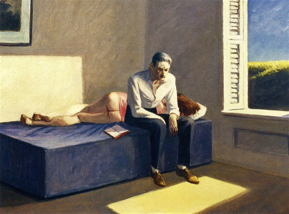 Excursion into philosophy 1959 by Edward Hopper (US, 1882-1967)