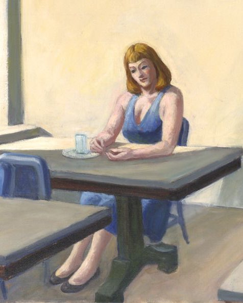 """""""Sunlight in a Cafeteria"""", 1958  by  Edward Hopper"""