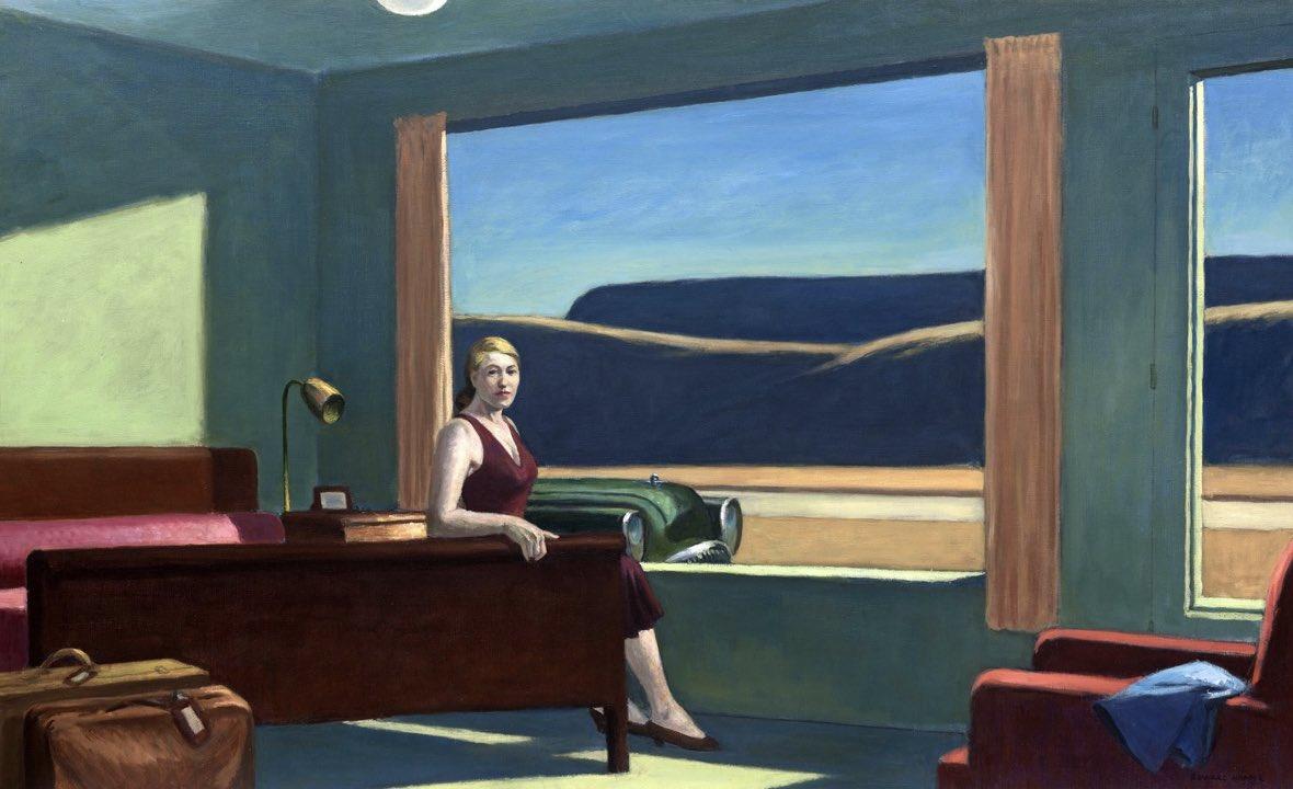 "Western Motel"" (1957) Edward Hopper"