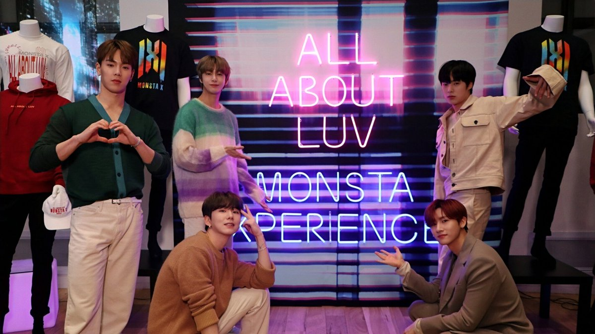 "2020.02.18 TUE  ""ALL ABOUT LUV"" #MONSTAX in USA 🇺🇸  Sony Square NYC @Sony  #ALLABOUTLUV  #MONSTA_X #몬스타엑스"