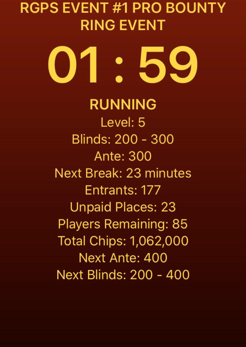 177 entries so far @RGPokerSeries @JamulPoker