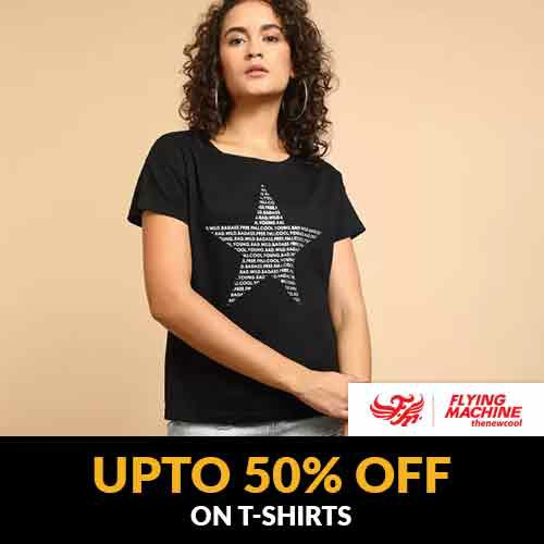 Upto 50% OFF OFF on Flying Machine #women T Shirts   Limited Stocks Available, Buy Now! https://ekaro.in/enkr2020021940212988 …pic.twitter.com/avPXy3HpGa