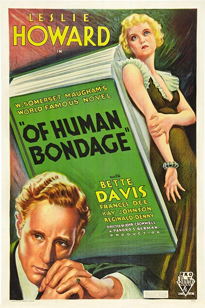 OF HUMAN BONDAGE (1934) Leslie Howard, Bette Davis, Frances Dee. Dir: John Cromwell 1:30 AM ET    A medical student falls for a manipulative waitress.  B/W, 83 mins, CC, #drama #TCM pic.twitter.com/Xa91RGS4B0