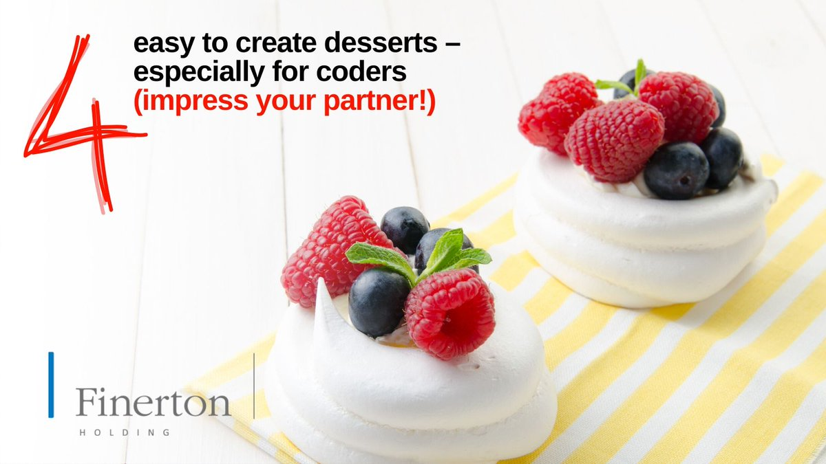 Here are a couple of easy recipes which are quick and easy http://bit.ly/YUMMYCODE    #FinertonMalta #BusinessSolutions #Malta #Coders #CodersMalta #TechNews #TechBlog #MaltaBlog #WorkLifeBalance #Desserts #CodingLife #Recipepic.twitter.com/MObnBbzzw8