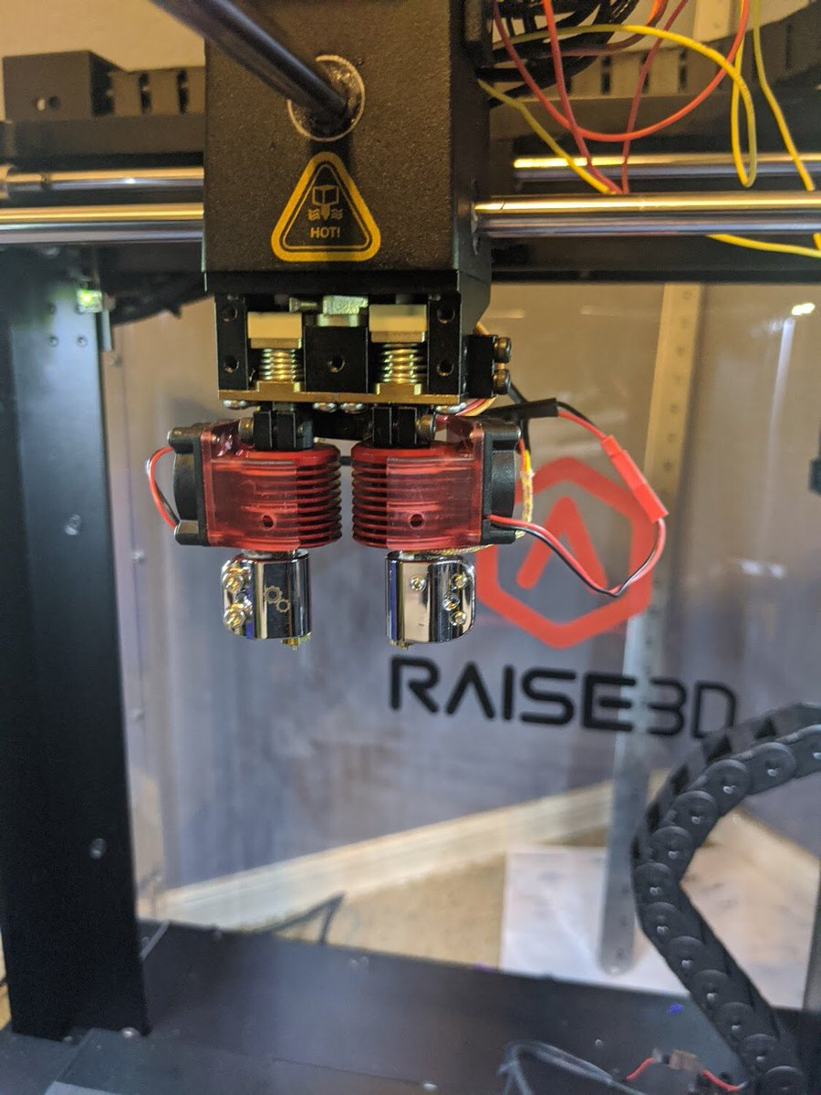 Another little win for team Vlad: @raise3d pro printer can now print, without million issues I keep being reported, with #novahotend upgrade. #raise3d #raise3dpro2 #raise3dn2plus #raise3dn2  #3Dprinting #3Dprinter #3Dprinted #3dprint #3dprints #ultimaker #prusai3 #CR10  #ender3
