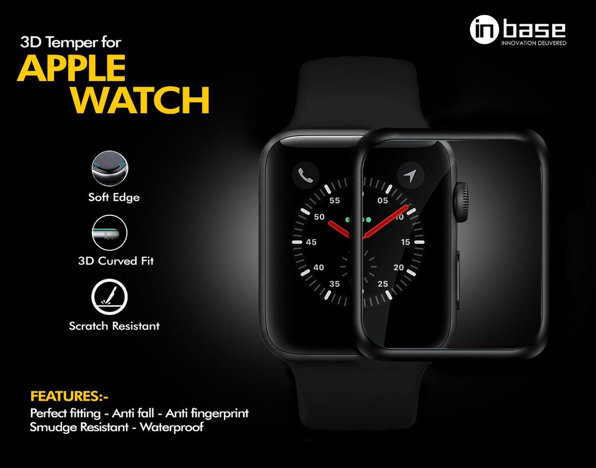 Inbase Apple Watch Tempered Glass   38mm / 40mm / 44mm   Full Curved Tempered Glass 0.3mm  - Curved Glass with Full Coverage - Comprehensive Fit - Without Fingerprints - Scratch-proof  #innovationdelivered #newlaunch #Inbase #trending #WATCH  #watchtemperedglass #smartwatchpic.twitter.com/k4FPOYlx61