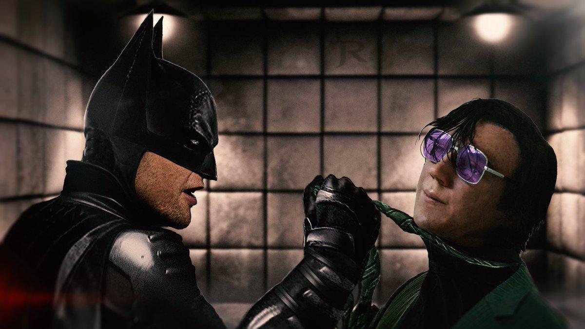 Batman / Riddler #TheBatmanIsComing   #Batman #TheBatman #RobertPattinson #PaulDano #BruceWayne @BatmanFiles @JesabelRaay @warpingfist @TheBCEU @Moonwarp #photoshop @robpattinsonww @RPAustralia @GothamAtKnight #comicbookspic.twitter.com/lIzK38nqOI