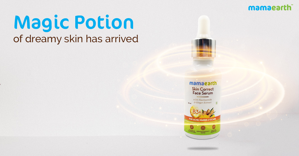 #NEWLAUNCH Now you need not worry about the acne marks & scars, as Mamaearth Skin Correct Face Serum is here to work like magic on acne marks, reduce enlarged pores while giving you an even skin tone.  Shop it here - http://bit.ly/2GT0Zhj  #mamaearth #newlaunch #faceserumpic.twitter.com/I3jeuakOcq