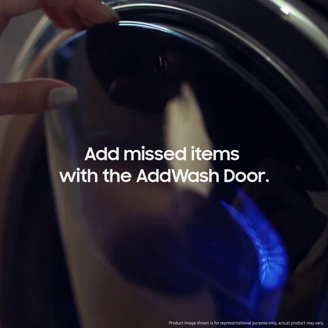 Forgot to put in your favourite pair of socks for a wash? No problem, the AddWash Door simply lets you add extra clothes and more detergent even during the washing cycle. http://spr.ly/60181YqLK  #Samsung