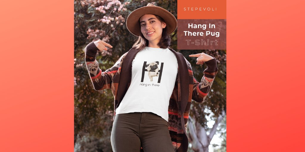 Whenever life gets you down, remember to hang in there and be pawsitive! This 'Hang In There Pug' t-shirt is the perfect little pick-me-up for dog parents. . #streetfashionstyle #worldfashion #tshirt #fashionforever #womenmensapparel #apparels  #urbanapparel #tshirtloverpic.twitter.com/n4cHlHlIc1