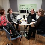 Image for the Tweet beginning: #lapsensuru aiheena podcast nauhoituksessa, yhteistyössä