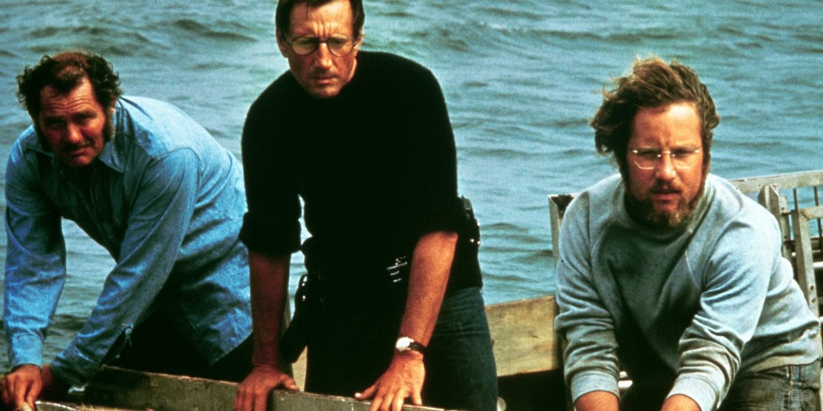 Jaws is trending on twitter and I love it. It was the first movie I became obsessed with as a boy. Scared the shit out of me but I still loved it. The trio's chemistry and acting is top notch, and it gets better with age. There's a lot to unpack thematically. My fav movie #Jaws pic.twitter.com/xd3E6k14Wn