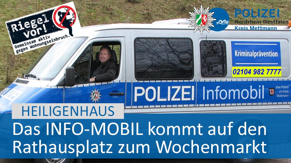 #Mettmann: Das Infomobil kommt heute auf den Rathausplatz!   SAVE THE DATE  Heute (19. Februar 2020)  10 bis 12 Uhr  Rathausplatz in Heiligenhaus (Wochenmarkt)   Unsere Pressemitteilung dazu: https://fcld.ly/ih8fw2m  #PolizeiMEpic.twitter.com/QnhjvnOmeT