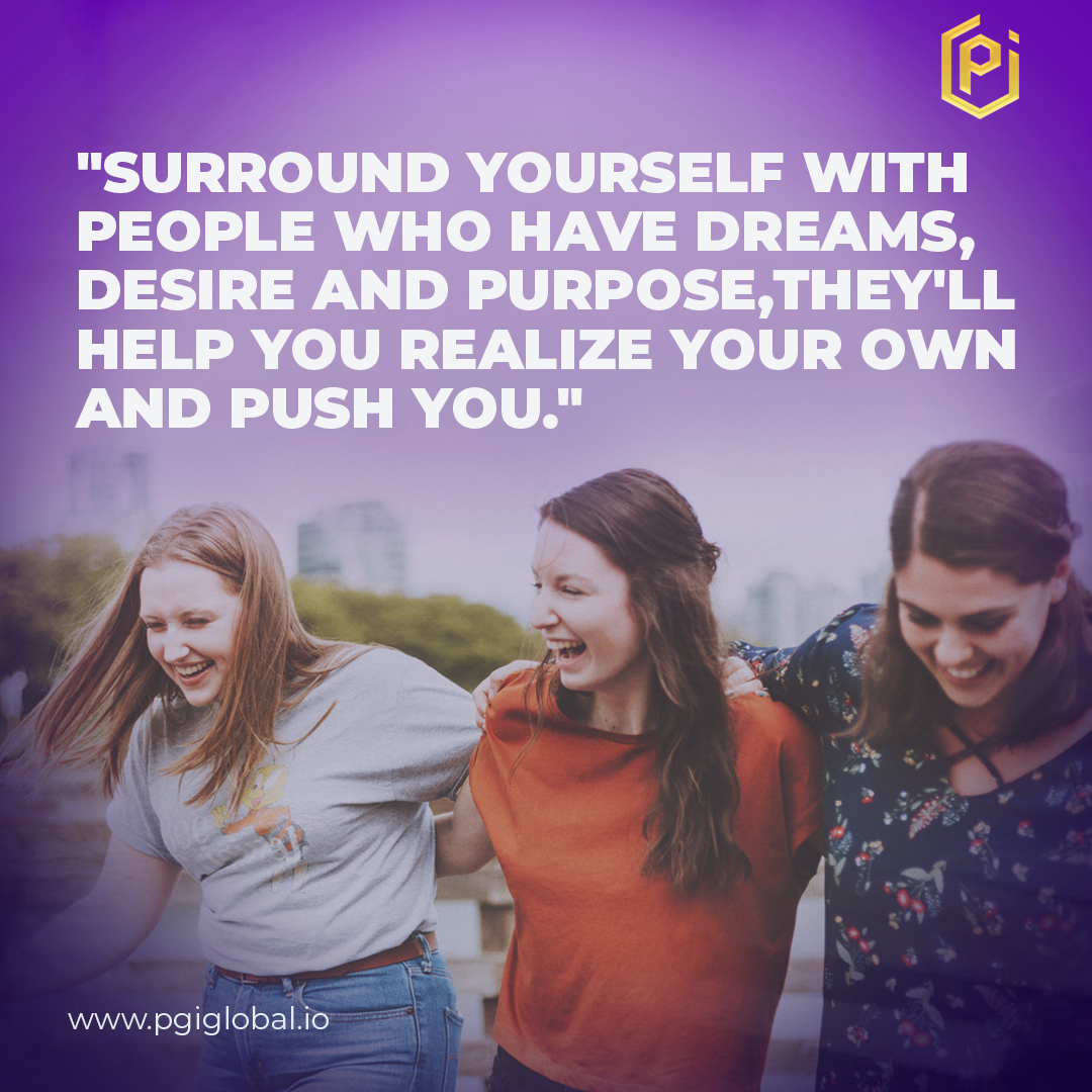 """""""Surround yourself with people who have dreams,desire and purpose,they'll help you realize your own and push you.""""  #PGI #PraetorianGroupInternational #Trading #bitcoin #Crypto #Cryptocurrency #success #learn #Global #pgiglobal #Blockchain #Education #opportunity #cryptoworldpic.twitter.com/XL1KgoB4Yb"""