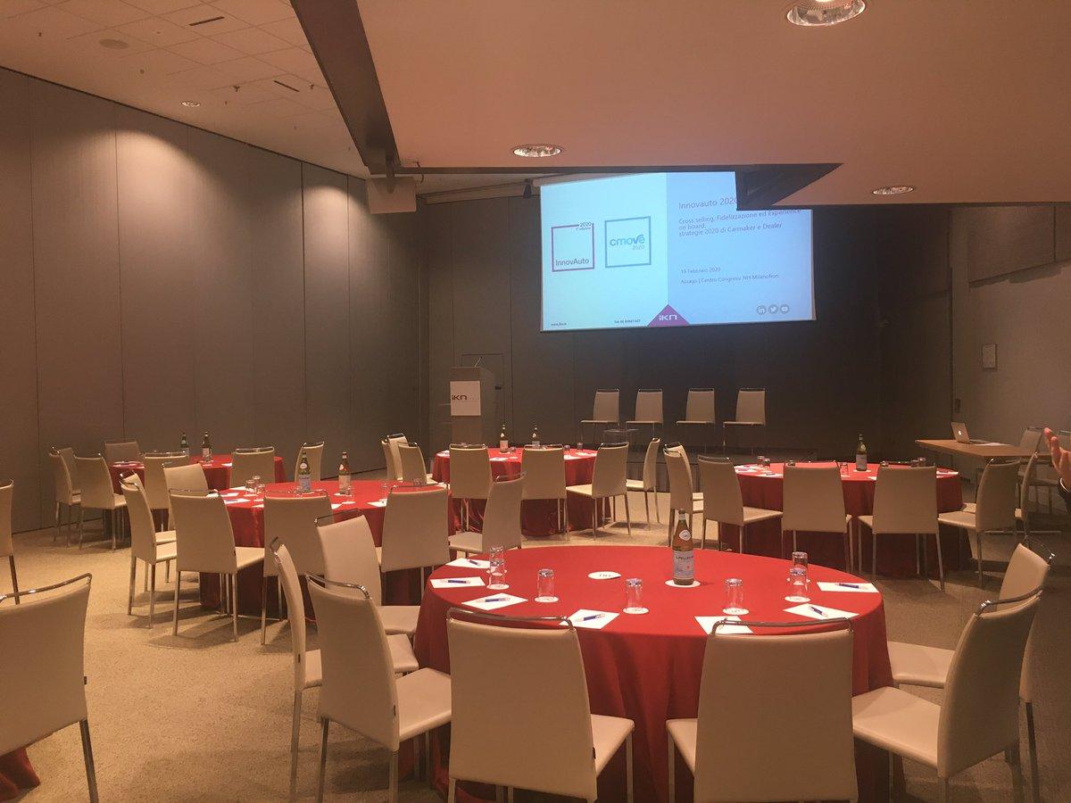 È tutto pronto al Centro Congressi NH Milanofiori per i due eventi di @IKN_Italy #Cmove e #Procurementforum   Vi aspettiamo! #networking #Automotive #procurement https://t.co/cM5bzgjxZc