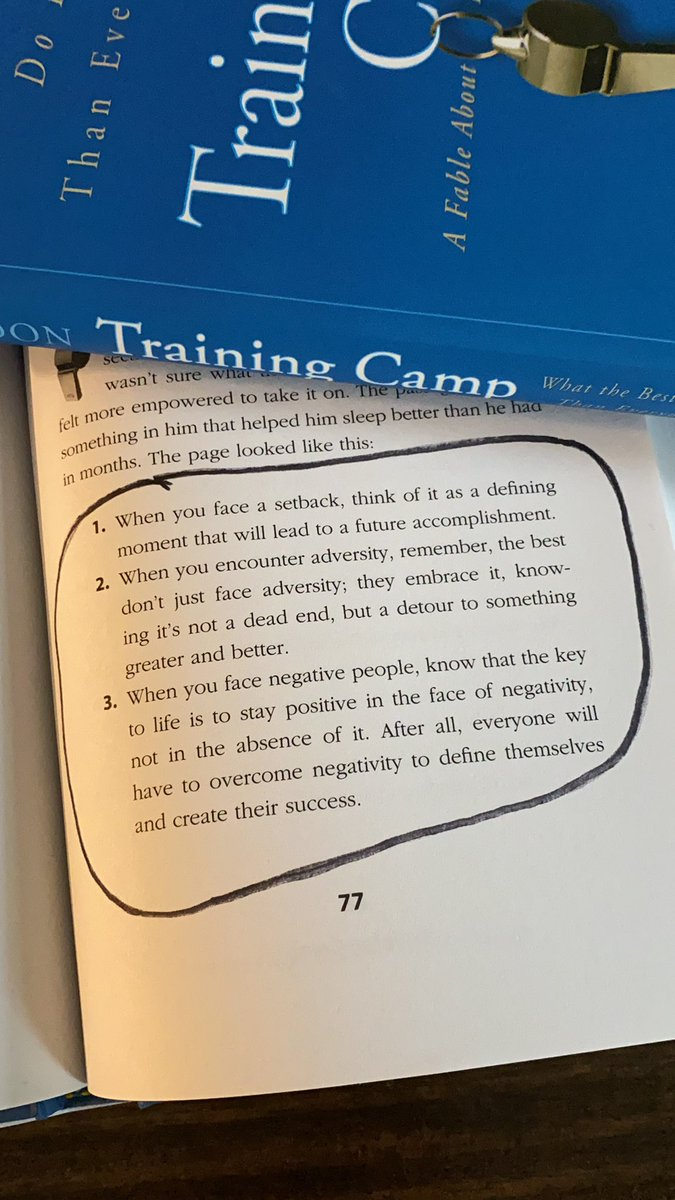 """3 Truths to Remember Today! Becoming your best starts in your mind. 📷 from page 77 of my book """"Training Camp"""""""
