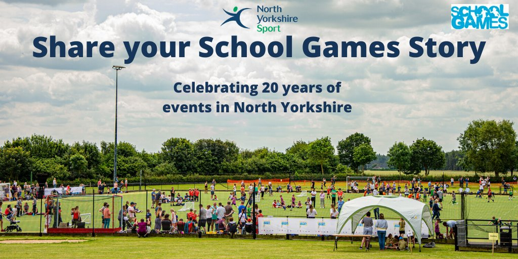 We're celebrating 20 years of School sports events in #NorthYorkshire this July.   We're looking for... 📸 Photos 🎥 Videos 🌟 Stories from the past 20 years.   📩 Please send these to SchoolGames@northyorkshiresport.co.uk so we can celebrate this exciting anniversary event