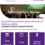 Image for the Tweet beginning: #SynBio #seminar on tomorrow @AIBNatUQ