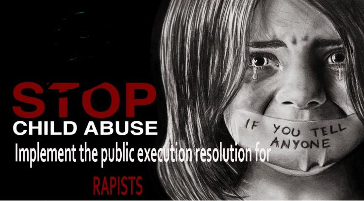 #hangchildrapists publicly implement this law immediately <br>http://pic.twitter.com/LhLHw1k5fL