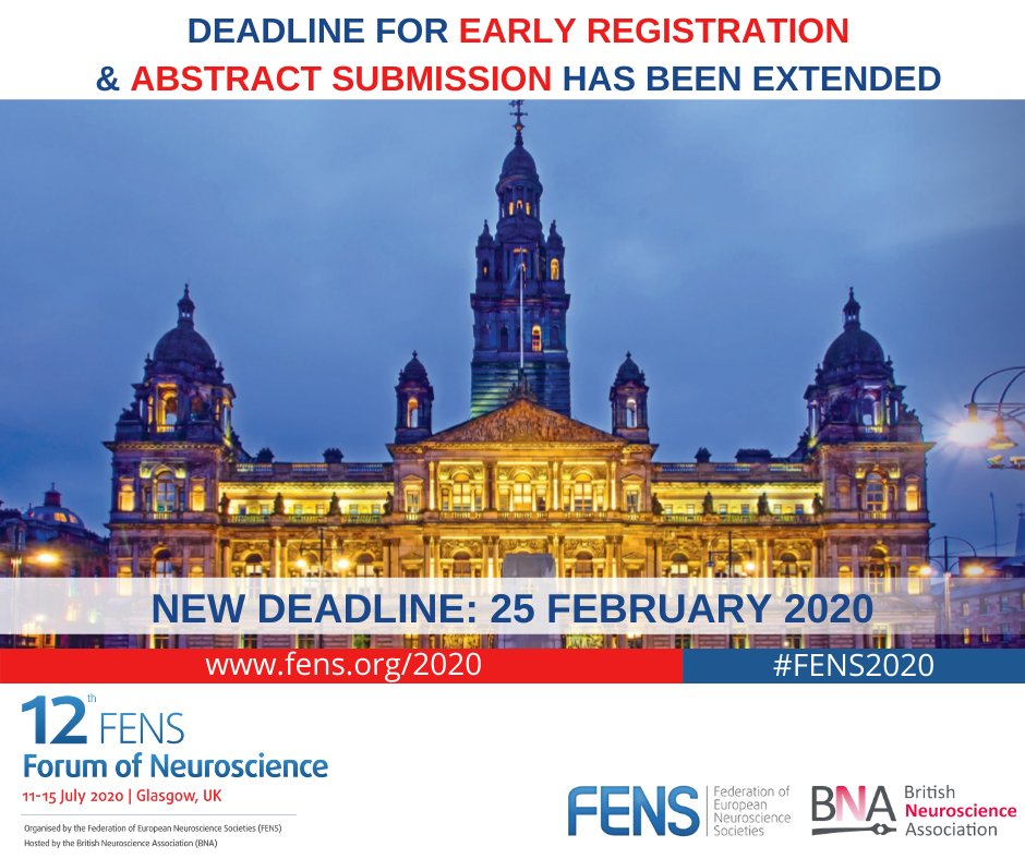 Neuroscientists! Optimize your travelling!  The FENS Forum is an outstanding meeting, with plenary lectures, symposia, workshops, posters, debates, socials, great networking opportunities and a vibrant community.   Join us in Glasgow, July - Abstracts by Feb 25 #FENS2020 @FENSorg https://t.co/UxdVvmYAPy