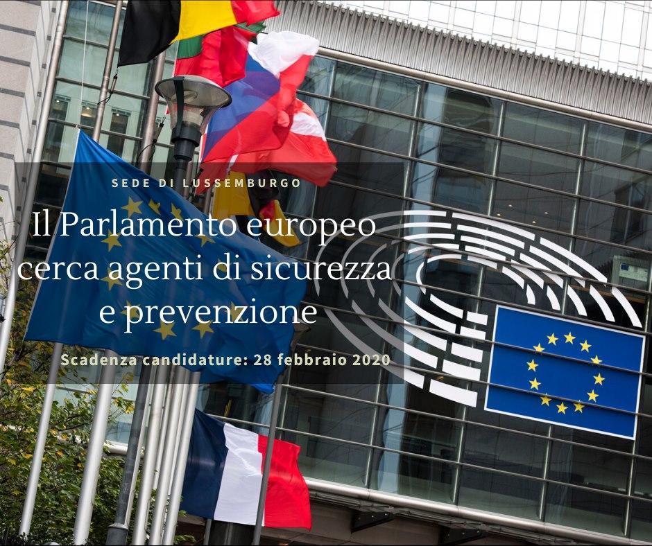 Il Parlamento europeo cerca 100 agenti nel settore Sorveglianza e Prevenzione per la sua sede di Lussemburgo  tutte le informazioni per la presentazione delle domande: https://www.europarl.europa.eu/privacy-policy/files/security-and-access/it-invitation-to-tender-2020.pdf…  Scadenza: 28 febbraio 2020pic.twitter.com/H3iyrNNCbX