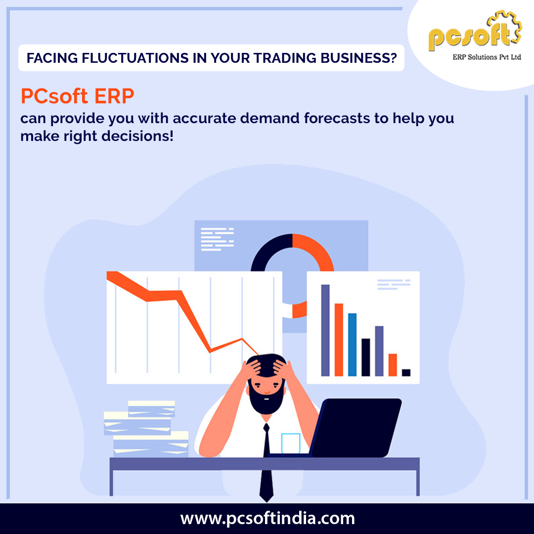 Facing fluctuations in your trading business? PCsoft ERP can provide you with accurate demand forecasts to help you make the right decisions.  http://www.pcsoftindia.com/  #ERPSoftware #trading  #business #accurate #demand  #forecasts #decisions #perfection #BusinessSolution #PCSoftpic.twitter.com/fNcxwnXRQ5
