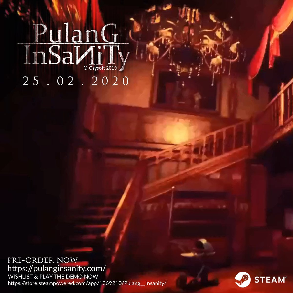 WISHLIST & PLAY THE DEMO NOW https://store.steampowered.com/app/1069210/Pulang__Insanity/ …  Website : http://pulanginsanity.com/   #EnterInsanity #ComingSoon #Games #Steam #Indonesia #horror #SurvivalHorror #PsychologicalHorror #pulanginsanity #NewDemoUpdatepic.twitter.com/d4gTO0FLqM